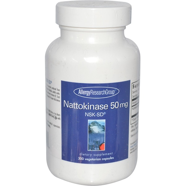 Allergy Research Group, Nattokinase 50 mg, NSK-SD, 300 Veggie Caps (Discontinued Item)