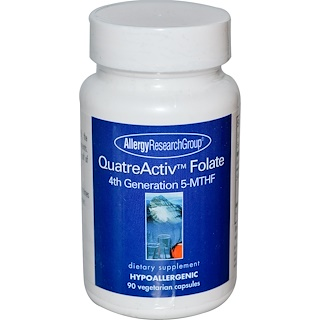 Allergy Research Group, QuatreActiv Folate, 4th Generation 5-MTHF, 90 Veggie Caps