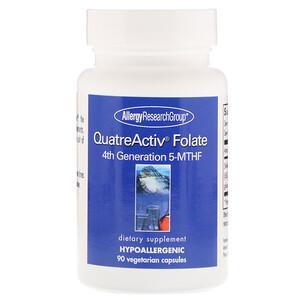 Эллерджи Ресёрч Груп, QuatreActiv Folate, 4th Generation 5-MTHF, 90 Vegetarian Capsules отзывы