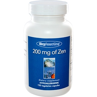 Allergy Research Group, 200 mg of Zen、ベジキャップ120 錠