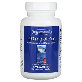 Allergy Research Group, 200 mg de Zen, 120 Cápsulas Vegetales
