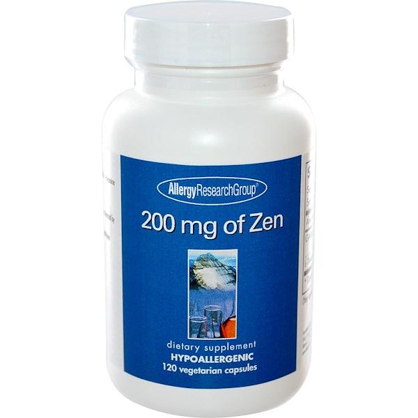 Allergy Research Group, 200 mg of Zen, 120 Veggie Caps