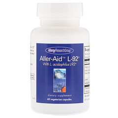 Allergy Research Group, Aller-Aid L-92 with L. Acidophilus L-92, 60 Vegetarian Capsules