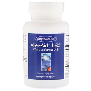 Эллерджи Ресёрч Груп, Aller-Aid L-92 with L. Acidophilus L-92, 60 Vegetarian Capsules отзывы