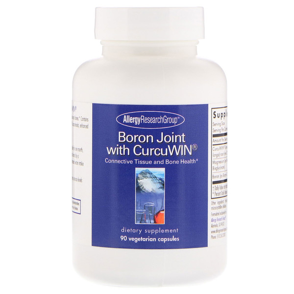 Allergy Research Group, Joint de bore avec CurcuWin, 90 capsules végétales (Discontinued Item)