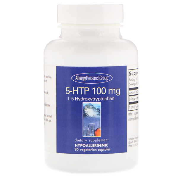 Allergy Research Group, 5-HTP, 100 mg, 90 Vegetarian Capsules (Discontinued Item)