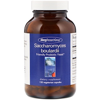 Allergy Research Group, Saccharomyces Boulardii, Friendly Probiotic Yeast, 120 Vegetarian Capsules