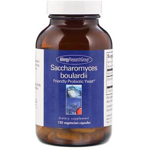 Эллерджи Ресёрч Груп, Saccharomyces Boulardii, Friendly Probiotic Yeast, 120 Vegetarian Capsules отзывы
