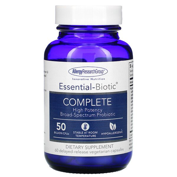Essential-Biotic, Complete, 50 Billion CFU's, 60 Delayed-Release Vegetarian Capsules