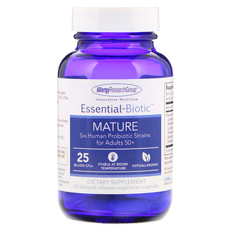 Allergy Research Group, Essential-Biotic, Mature, 25 Billion CFU's, 60 Delayed-Release Vegetarian Capsules