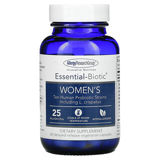 Allergy Research Group, Essential-Biotic, Women's, 25 Billion CFU's, 60 Delayed-Release Vegetarian Capsules