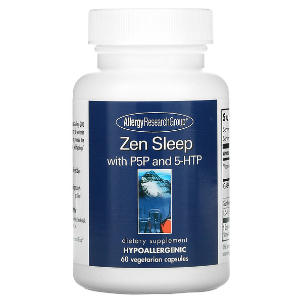 Allergy Research Group, Zen Sleep with P5P and 5-HTP, 60 Vegetarian Capsules