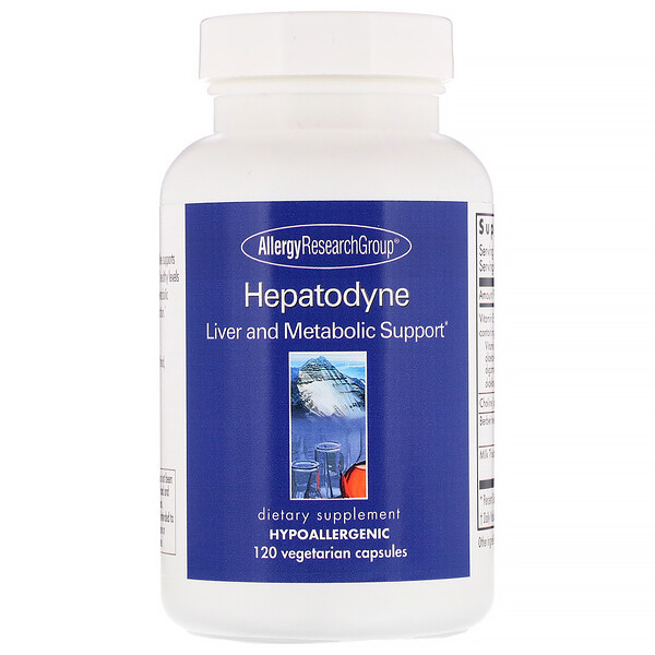 Allergy Research Group, Hepatodyne, Liver and Metabolic Support, 120 Vegetarian Capsules (Discontinued Item)
