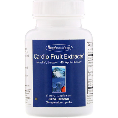 Allergy Research Group Cardio Fruit Extracts, 60 Vegetarian Capsules
