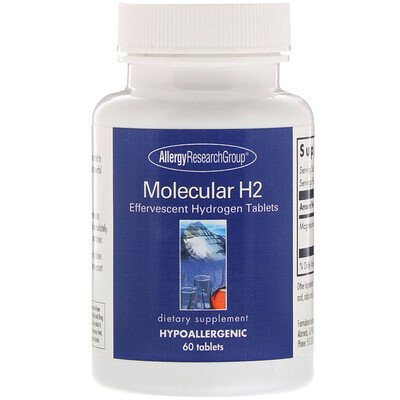 Купить Allergy Research Group Molecular H2, шипучие таблетки водорода, 60 таблеток