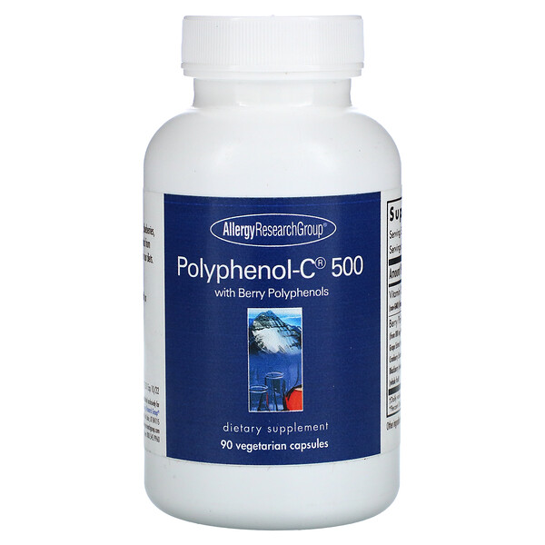 Allergy Research Group, Polyphenol-C 500 with Berry Polyphenols, 90 Vegetarian Capsules