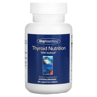 Allergy Research Group, Thyroid Nutrition with Iodoral, 60 Vegetarian Tablets