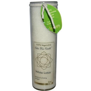 Aloha Bay, Palm Wax Candle, White Lotus, 17 oz