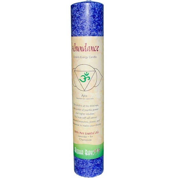 Aloha Bay, Chakra Energy Candle, Abundance, 1 Candle (Discontinued Item)