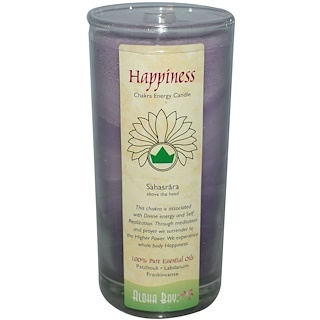 Aloha Bay, Chakra Energy Candle, Happiness, 11 oz