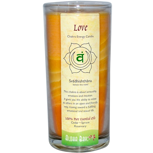 Aloha Bay, Chakra Energy Candle, Love (Svadhi - shthana), 11 oz (Discontinued Item)
