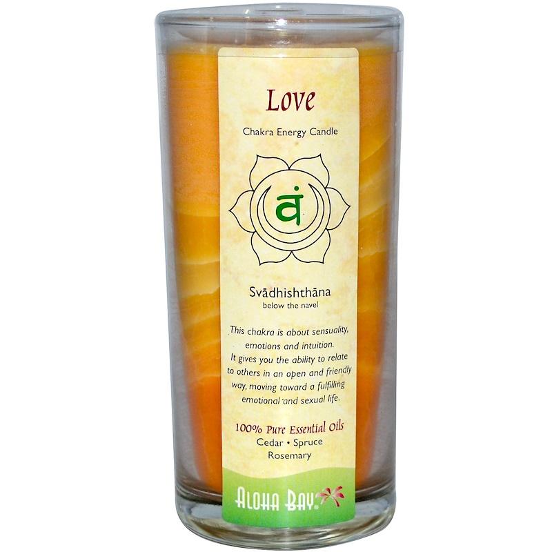 Chakra Energy Candle, Love (Svadhi - shthana), 11 oz