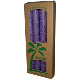 Aloha Bay, Palm Wax Taper Candles, Unscented, Violet, 4 Pack, 9 in (23 cm) Each