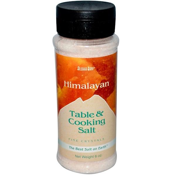 Aloha Bay, Himalayan Table & Cooking Salt, Fine Crystals, 6 oz (117 g)