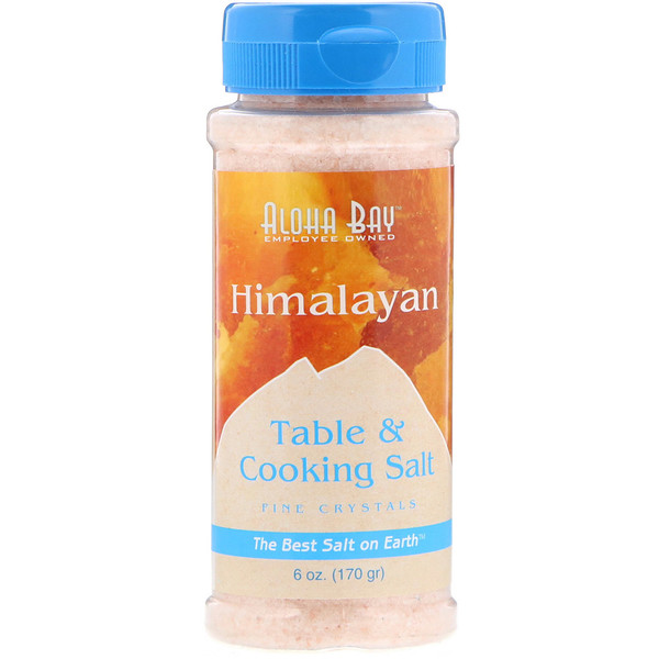Aloha Bay, Himalayan, Table & Cooking Salt, 6 oz (170 g) (Discontinued Item)