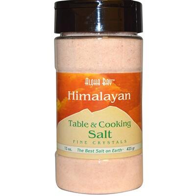 Купить Гималайская, столовая поваренная соль, мелкие кристаллы, 15 унций (425 г)