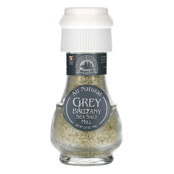 All Natural Grey Brittany Sea Salt Mill, 2.47 oz (70 g)