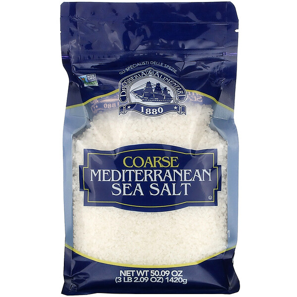 Coarse Ground Mediterranean Sea Salt, 50.09 oz (1420 g)