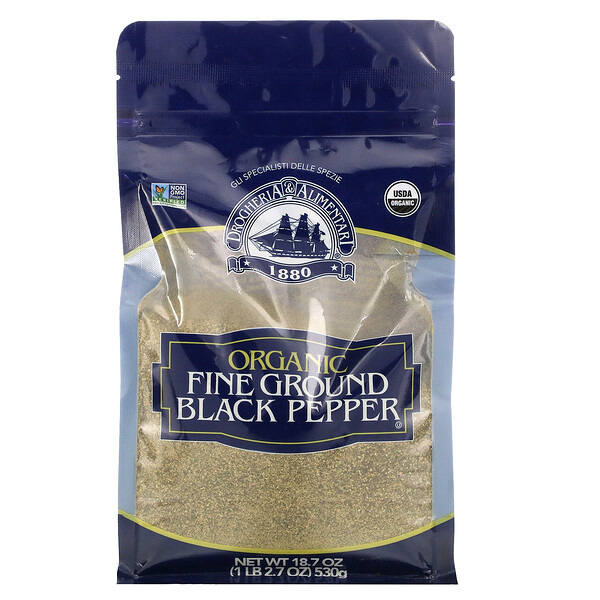 Organic Fine Ground Black Pepper, 18.7 oz (530 g)