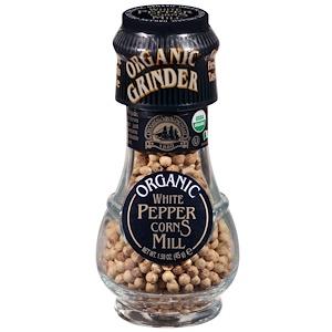 Дрогерия и Алиментари, Organic White Peppercorns Mill, 1.58 oz (45 g) отзывы покупателей
