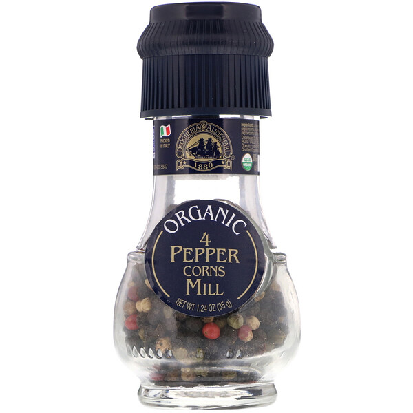 Drogheria & Alimentari, Organic 4 Peppercorns Mill(유기농 4 페퍼콘 밀), 1.24 oz (35 g)