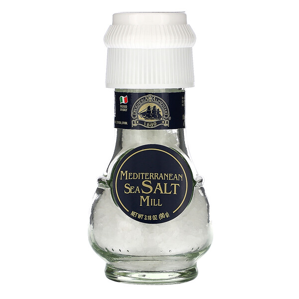 Mediterranean Sea Salt Mill, 3.18 oz (90 g)