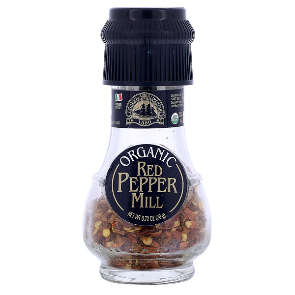 Organic Red Pepper Mill, 0.72 oz (20 g)