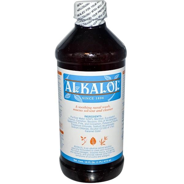 Alkalol, Alkaline Saline Solution, Nasal Wash, 16 fl oz (473 ml) (Discontinued Item)