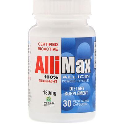 Капсулы с порошком 100%-ного аллицина, 180 мг, 30 капсул в растительной оболочке мадопар гсс 125 мг 100 капсулы