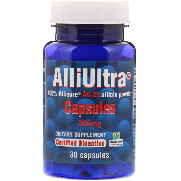 Allimax, Cápsulas AlliUltra, 360 mg, 30 cápsulas