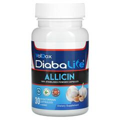 Allimax, Diabalife,蒜素,500 毫克,30 粒素食膠囊