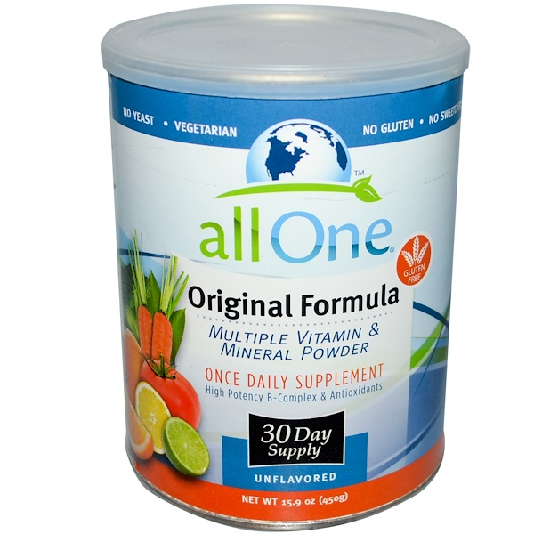 All One, Nutritech, Original Formula, Multiple Vitamin & Mineral Powder, 15.9 oz (450 g) (Discontinued Item)
