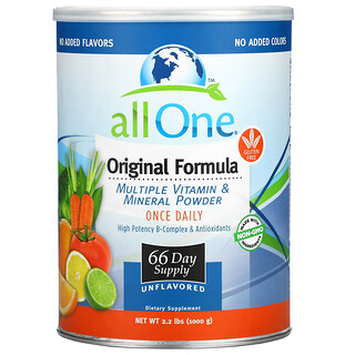 All One, Nutritech, Original Formula, Multiple Vitamin & Mineral Powder, Unflavored, 2.2 lbs (1,000 g)