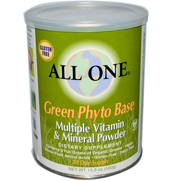 All One, Nutritech, Green Phyto Base, Multiple Vitamin & Mineral Powder, 15.9 oz (450 g) (Discontinued Item)