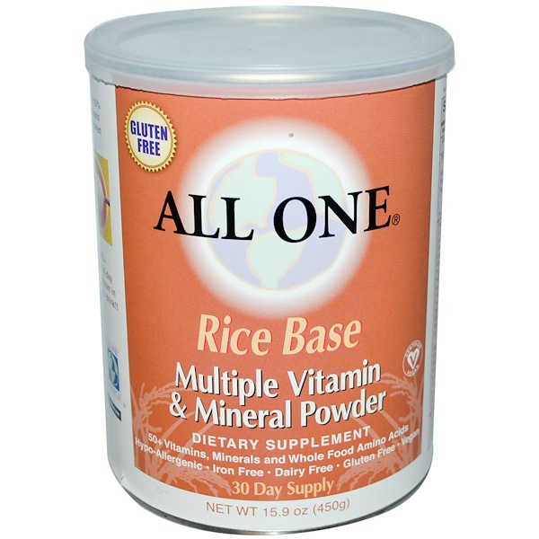 All One, Nutritech, Rice Base, Multiple Vitamin & Mineral Powder, 15.9 oz (450 g) (Discontinued Item)