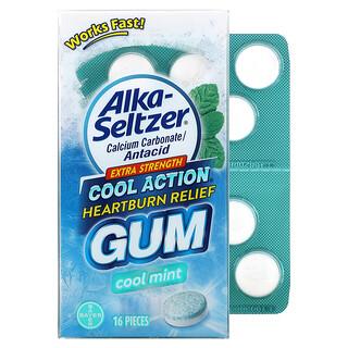 Alka-Seltzer, Heartburn Relief Gum, Extra Strength, Cool Mint, 16 Pieces