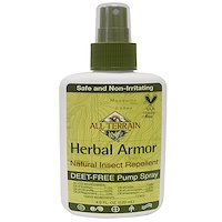 All Terrain, Herbal Armor, Natural Insect Repellent Deet-Free Pump Spray, 4 fl oz (120 ml)