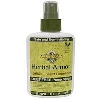 All Terrain, Herbal Armor, Natural Insect Repellent Deet-Free Pump Spray, 4 fl oz (120 ml)