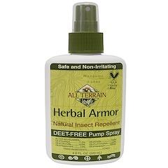 All Terrain, Herbal Armor, spray repelente de insectos natural sin Deet, 4 fl oz (120 ml)