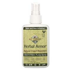 All Terrain, Herbal Armor,天然不含 Deet 驅蚊防蟲噴霧,4 液量盎司(120 毫升)